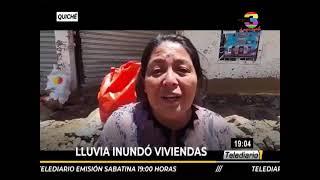 Quiché: Daños en viviendas por fuerte lluvia