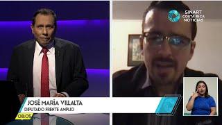 Intensas jornadas políticas en el Congreso a inicios 2021, entrevista Diputado José María Villalta