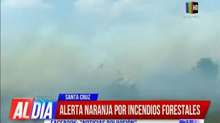 Declaran alerta naranja en Santa Cruz por incendios forestales