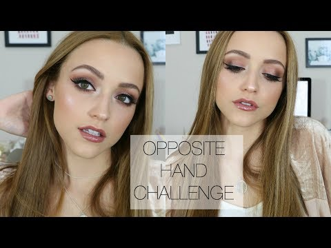 Full Glam Makeup Look Using MY RIGHT HAND   Opposite Hand Challenge