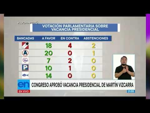 Martin Vizcarra, Quiénes votaron para su Salida