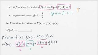 Using product rule example
