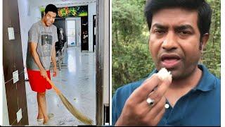 Comedian Vennela Kishore Quarantine Moments | Vennela Kishore Making Biryani At Home During Lockdown - RAJSHRITELUGU
