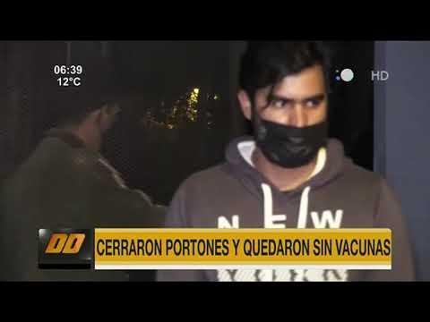 Cerraron portones y muchos nuevamente se quedaron sin vacunas en la SND