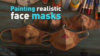 Painting realistic face masks