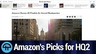 Amazon Picks 20 Cities for HQ2