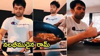 Hero Ram Pothineni Cooking French Toast At Home During Lockdown | Ram Pothineni Cooking Video - RAJSHRITELUGU