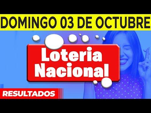 Sorteo Loteria Nacional del domingo 3 de octubre del 2021