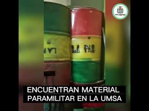 Hallan material de grupos paramilitares en la UMSA se presume que se sería usado por el CONADE