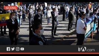 Empleados públicos protestaron por el cierre de las empresas