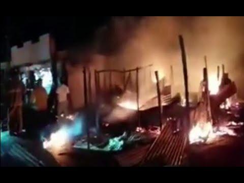 Vivienda fue consumida en llamas en Alta Verapaz