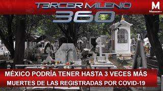 México podría tener hasta 3 veces más muertes de las registradas por Covid-19