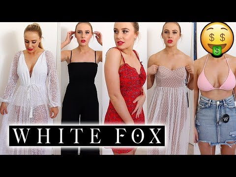 $1,700 WHITE FOX BOUTIQUE CLOTHING HAUL! | Lauren Curtis