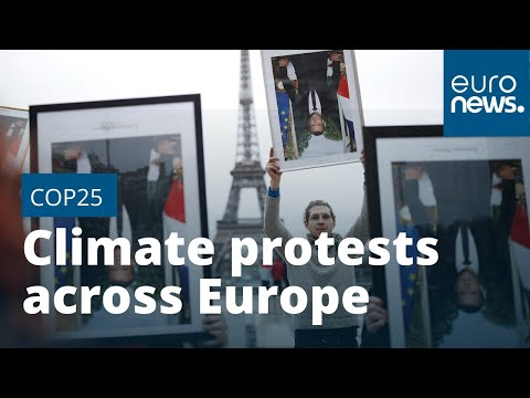 Climate protests across Europe as COP25 summit enters second week