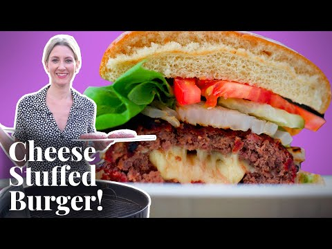 Olivia Grills a Juicy Lucy Burger For the First Time