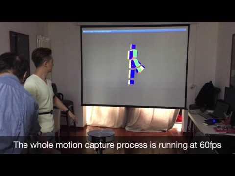 Self-designed Wireless Motion Capture Suit