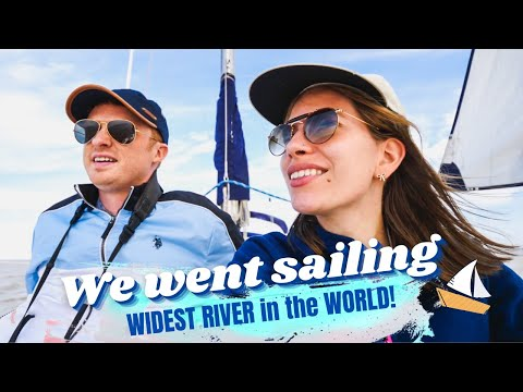 SAILING the WIDEST RIVER in the World!⛵💦 | River Plate Sail Trip in BUENOS AIRES, Argentina 🇦🇷