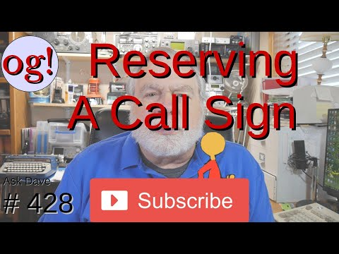 Reserving a Call Sign (#428)