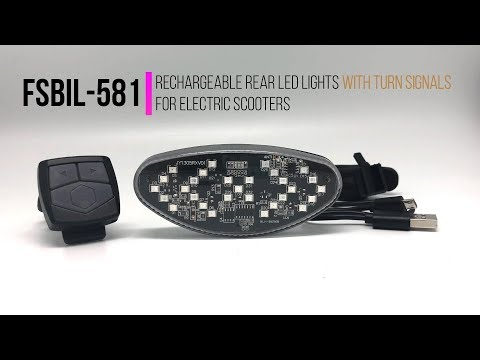 Rechargeable rear LED lights with turn signals for electric scooter FSBIL-581 | MOBOT