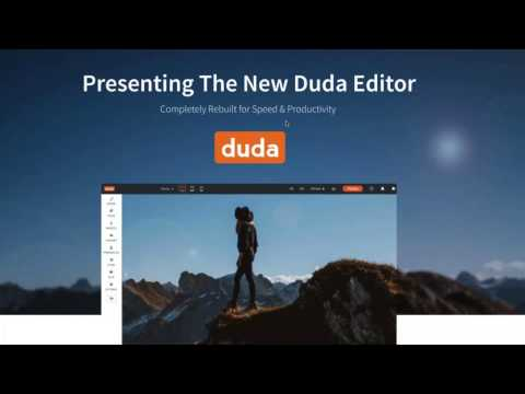 Duda New Editor Overview Webinar January 2017