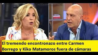 El tremendo encontronazo entre Carmen Borrego y Kiko Matamoros