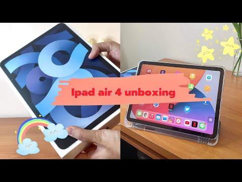 Unboxing-Ipad-air-4-(sky-blue)