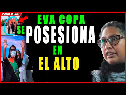 ¡ULTIMO! EVA COPA SE POSESIONA EN EL ALTO. ¡YA NO ES DE IZQUIERDA!