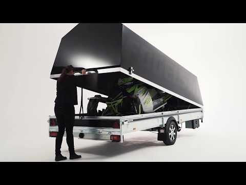Specialanpassad släpvagn för dig som kör snöskoter