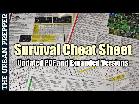 Survival Cheat Sheet: Updated PDF and Expanded Versions!