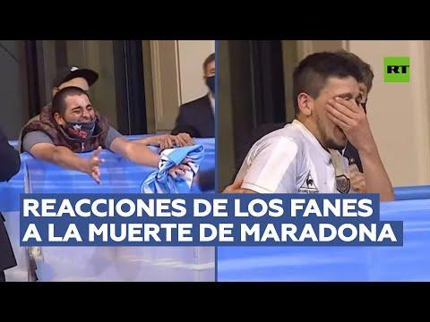 Las reacciones más fuertes de los seguidores durante la despedida de Maradona