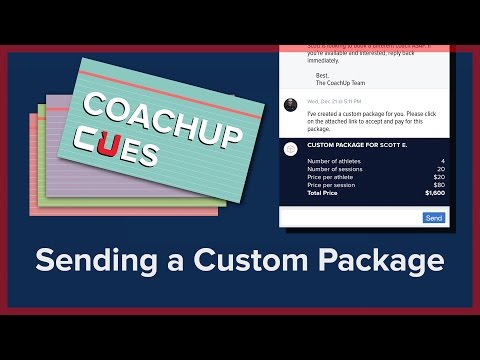 How to Create a Custom Package | CoachUp Cues