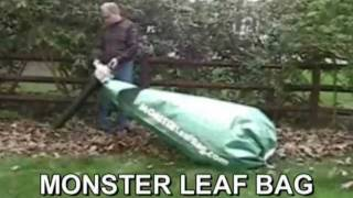 Leaf Er Collects Huge Amounts Of Leaves With Monster Bag Attached