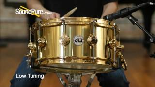 DW 6.5x14 Collectors Series Bell Brass Snare Drum Quick n' Dirty