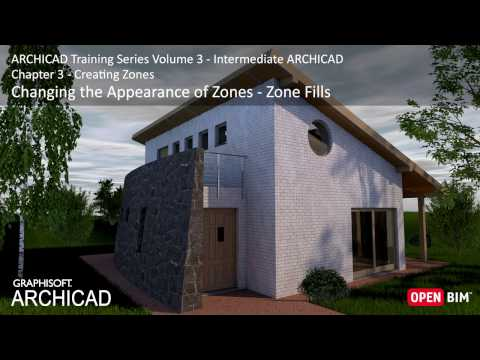 Changing the Appearance of Zones – Zone Fills - ARCHICAD Training Series 3 – 23/52