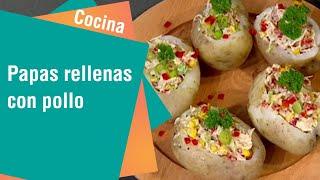 Receta de Secretos de Cocina de Unilever: Papas rellenas con pollo