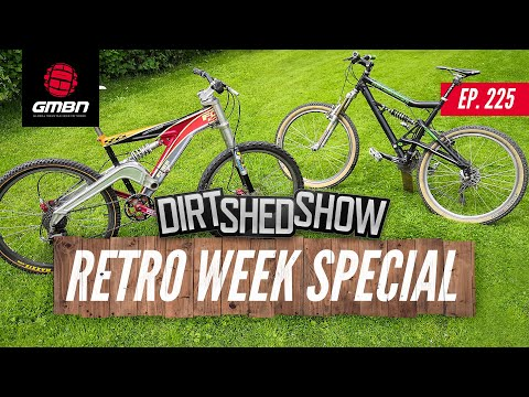 Mountain Biking Through The Ages | Dirt Shed Show Retro Week Special Ep.225