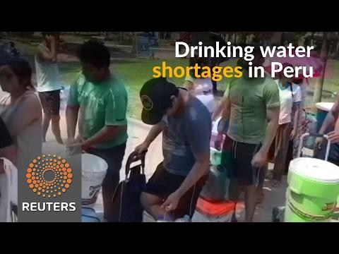 Drinking water shortages hit Peru