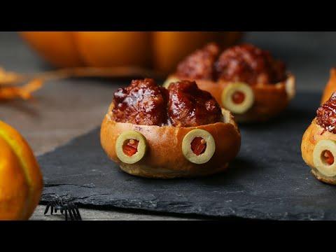 Brain Sliders For A Savory Halloween Treat ? Tasty