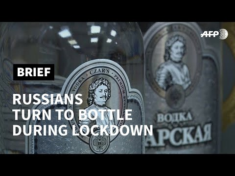 In virus lockdown, Russians take to the bottle | AFP photo