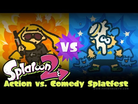 connectYoutube - Splatoon 2 | Team Action vs. Team Comedy Results