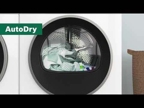 Bosch torktumlare med AutoDry, torkar din tvätt skonsamt till perfekt torkresultat.