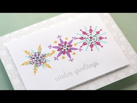 Holiday Card Series 2018 - Day 8 - Colorful Stacking Snowflakes