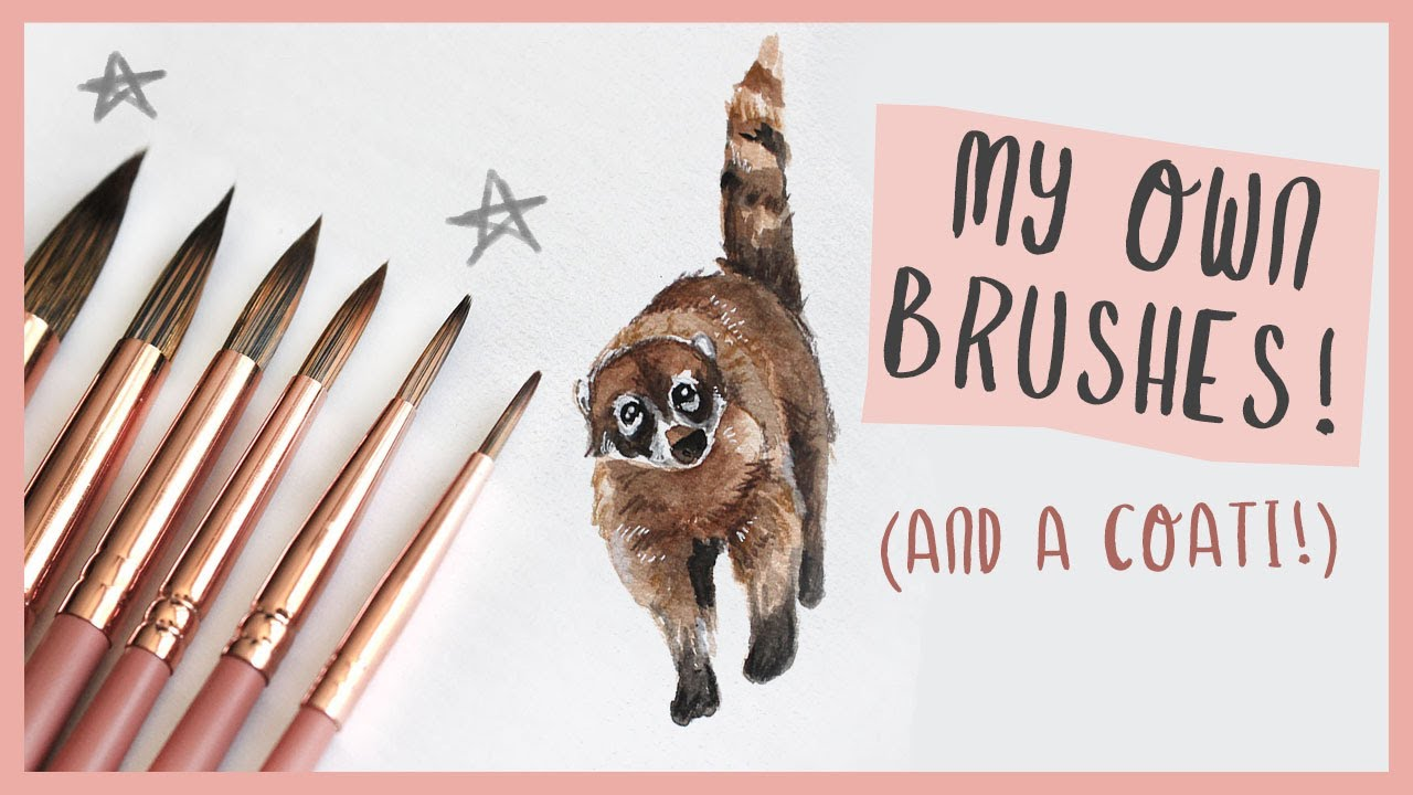 Wonder Forest Watercolour Brushes!!! + Painting a Coati