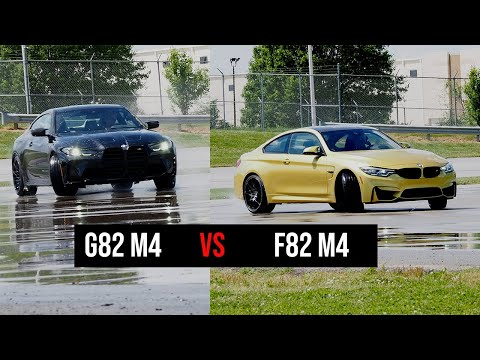 F82 BMW M4 vs G82 BMW M4  | Drag Race, Drifting, Track Battle | 4K