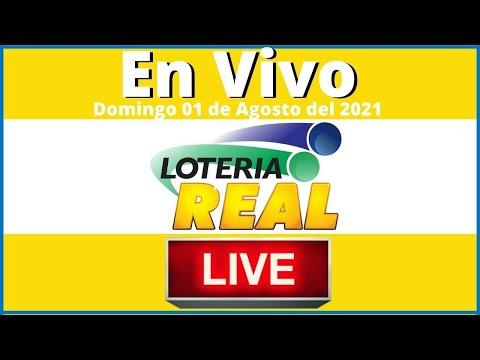 Lotería Real en vivo Domingo 01 de Agosto del año 2021 #todaslasloteriasenvivo