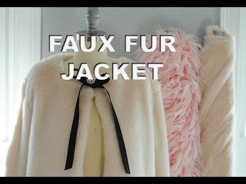 DIY Faux Fur Jacket Part 2