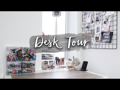 Desk Tour + Organization | (Stationery Storage Tips & Decor Inspiration!)