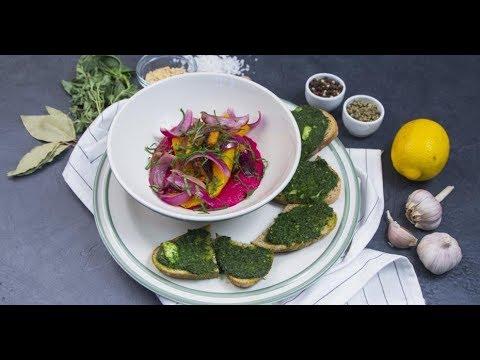 Запечённая тыква со свекольным хумусом | Дежурный по кухне