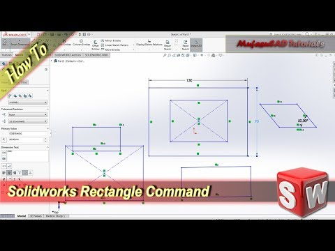 Solidworks Rectangle Command Basic Tutorial