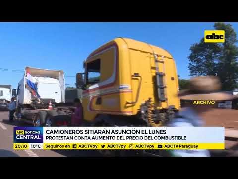 Camioneros sitiarán Asunción el lunes